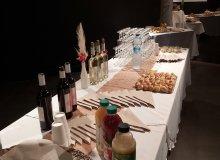 Le buffet prêt avant l'arrivée des convives